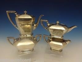 Fairfax by Gorham Sterling Silver Tea Set 4pc Coffee Tea Sugar Creamer (#0391) - $3,795.00