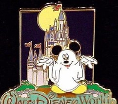 Disney WDW Castle Halloween Ghost Mickey Mouse Limited Edition 1000 Pin - $16.65