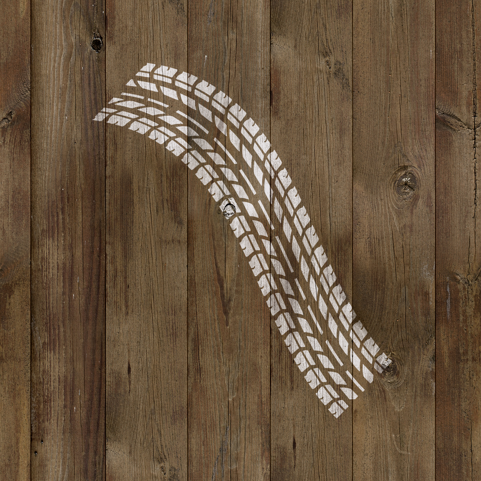 Tire Tracks Stencil - Reusable Stencils of Tire Tracks in Multiple Sizes