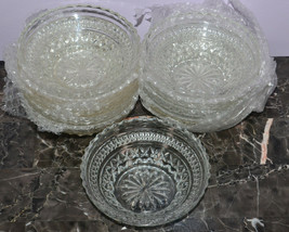 "Westmoreland Glassware English Hobnail Set of 10 5"" Round Nappy Bowl Dishes - $19.34"
