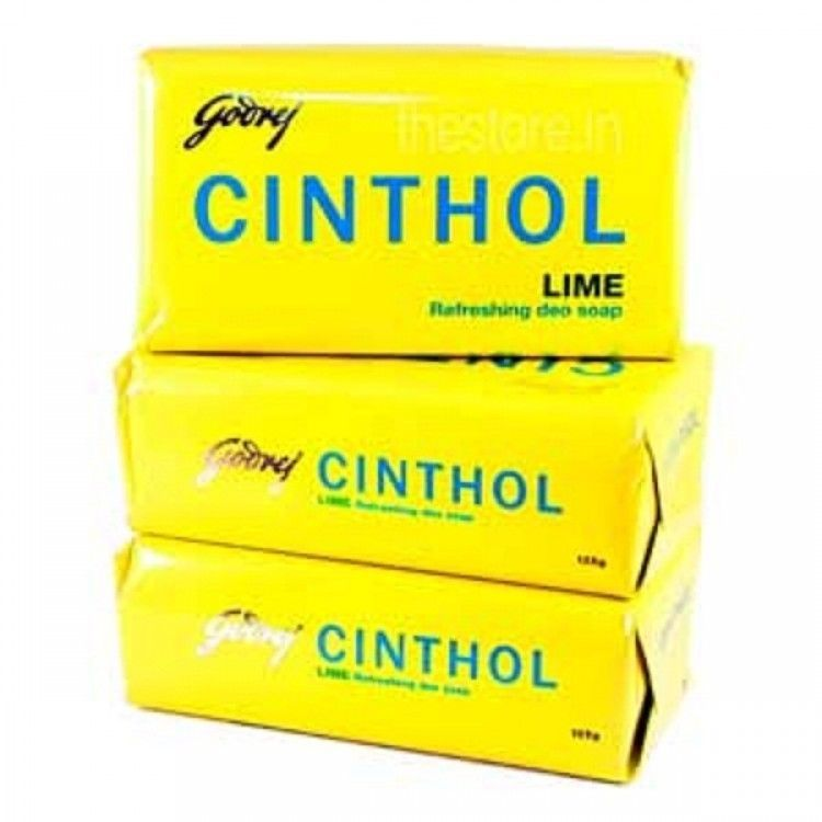 125 gm X 3 Godrej Cinthol Fresh Lime Soap Refreshing Deo Soap + FREE SHIPPING