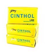 125 gm X 3 Godrej Cinthol Fresh Lime Soap Refreshing Deo Soap + FREE SHI... - $11.00