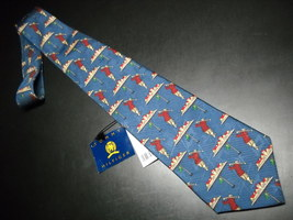Tommy Hilfiger Neck Tie Blue With Golfing Unused With Original Paper Tags - $12.99
