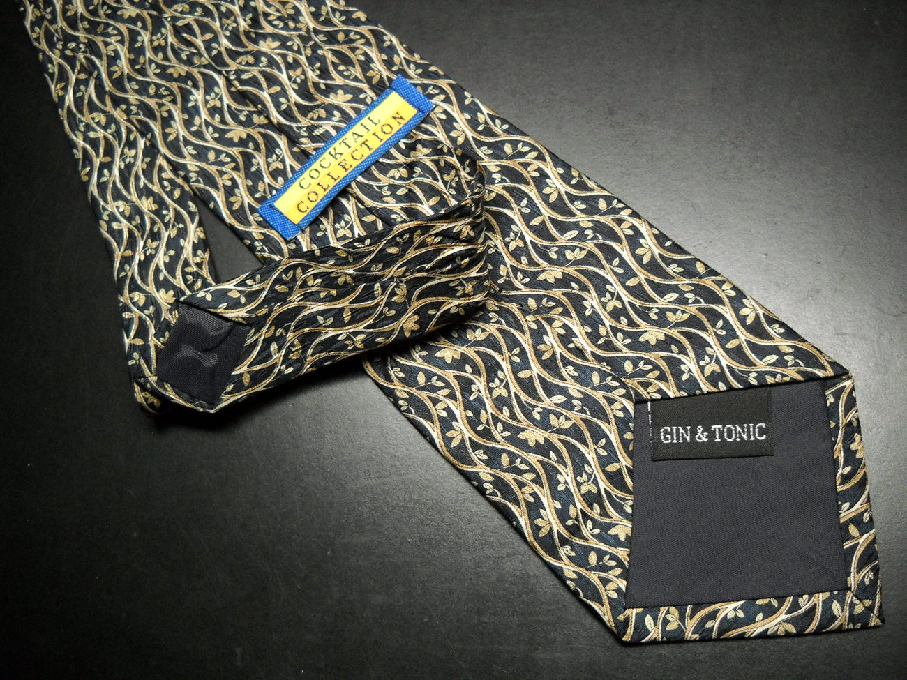 Stonehenge Cocktail Collection Neck Tie Gin and Tonic Browns