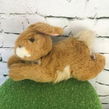 Unipak Bunny Rabbit Plush Brown Leaping Laying Stuffed Animal Soft Toy - $19.79