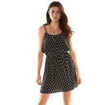 ELLE Popover Tiered Dress Tribal Dot-Black/White Women's Sz  M NWT MSRP ... - $22.96