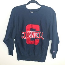 Champion Sweatshirt Men's M Blue Cornell University Vtg 80s Reverse Weave Warmup - $58.86