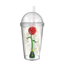 Beauty And The Beast Magic Rose Travel Cup Clear - $19.98