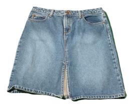 Womens Blue BONGO Denim Skirt 13 100% Cotton - $8.54
