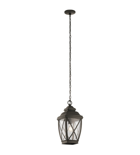 Primary image for Kichler 49844OZ Tangier Outdoor Pendant 10in Olde Bronze Aluminum 1-light