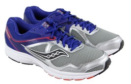 Mens Saucony Cohesion 10 Running Shoe - Silver/Blue/Orange [S25333-8] - €38,29 EUR