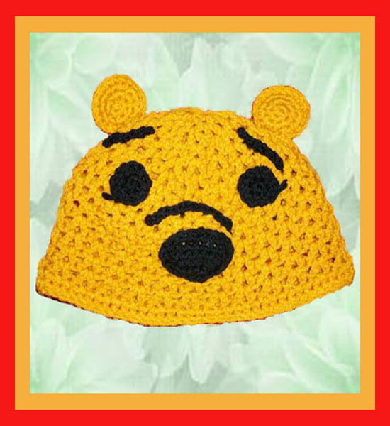 Disney Winnie the Pooh Crochet Hat (Any size from Child to Adult)