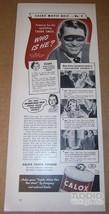 Cary Grant CALOX Tooth Powder '40s PRINT AD Clipping Advertisement vinta... - $12.59