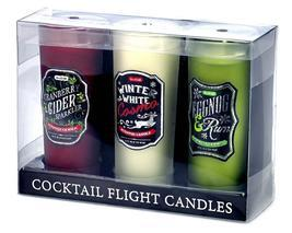 Holiday Cocktail Shotglass Candle Trio - $14.00