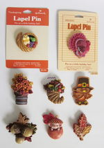Hallmark Lapel Pin Lot of 10 Fall Thanksgiving Pilgrim Turkey Acorn Squi... - $52.00