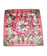 Hermes Scarf Kachina by Kermit Oliver Pink Silk 90 cm Carre Shawl Stole ME3 - $444.51
