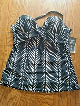 Island Escape Fiji Bandini Swimwear Top Size 12 image 1