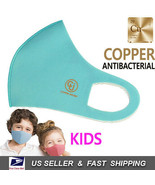 Kids Copper Infused Face Mask Reusable Washable (Made In Korea) BLUE - $9.60