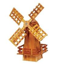 "30"" WOOD WINDMILL - Wooden Dutch Spinning Garden Wind Mill Amish Handmad... - $209.96 CAD"