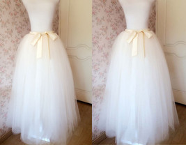 6 Layered IVORY Tulle Skirt Bridal Tulle Skirt Plus Size Wedding Skirt Separate image 1