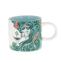 Starbucks Aqua Green Siren Wave Tail Anniversary Ceramic Coffee Mug Cup ... - $29.10