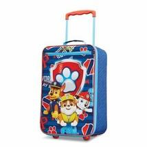 "Kids Luggage 18"" Easy Pull Sleek Softside Travel Case Cross-Straps Wheel... - $56.09"