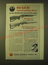1966 Ruger Sporter and International Auto-loading rifles Ad - $14.99