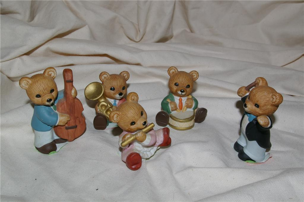 Homco 5 orchestra bears band 1422 home interiors