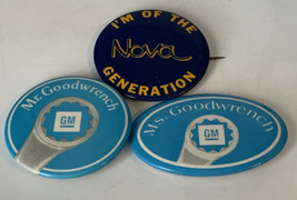 Mr. Goodwrench Pinback I'm Of The Nova Generation Lot Of 3 Vintage Butto... - $14.20