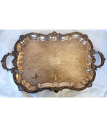 "Antique Huge silverplate Footed Waiter Battler Tray 29"" x 17.75"" - $692.01"