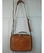 Hartmann Natural Belting Leather Carrying Shoulder Bag Briefcase Messeng... - $246.51