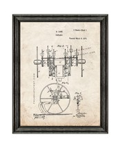 Cultivator Patent Print Old Look with Black Wood Frame - $24.95+