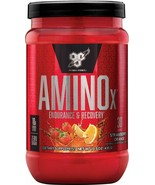 BSN Amino X Muscle Recovery & Endurance Powder Strawberry Orange 30 Serv... - $22.75