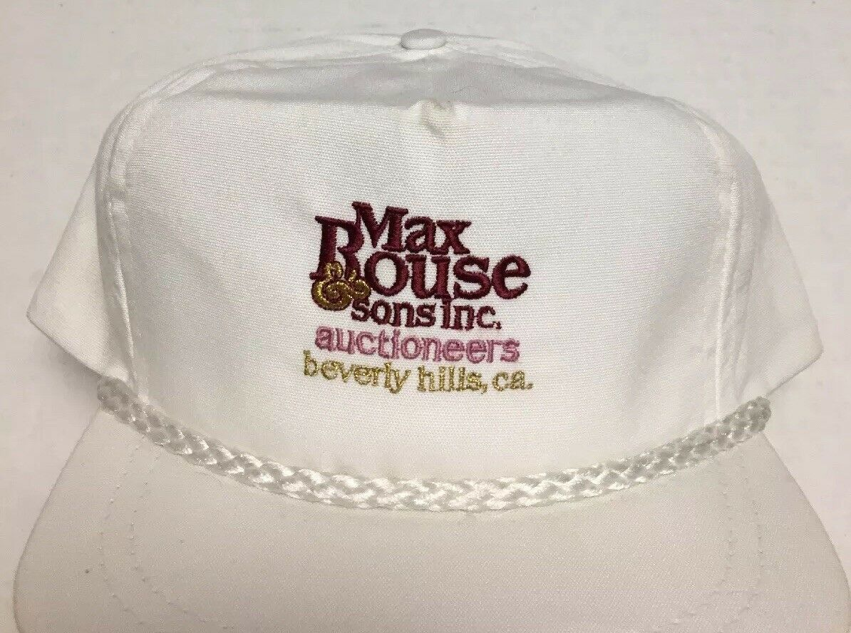 Vtg Max Rouse & Sons Inc Hat Auction Beverly Hills CA Cap Destroyed Made in USA image 2