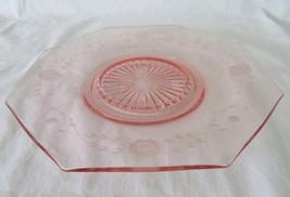 Lancaster, Octagon Cracker Plate Platter, Pink, Wheel Cut - $16.00