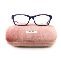 New Miu Miu Eyeglasses VMU 02I PC5 101 Blue/Brown Acetate 52 16 140 Authentic - $70.30
