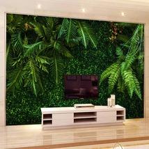 """3D Wallpaper """"Rainforest Green Leaves"""" - $35.00+"""