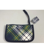 Lands' End small wristlet wallet clutch pouch plaid canvas NWT - $15.99