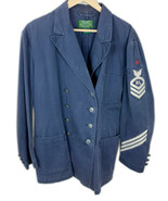 Vintage Ralph Lauren Country RL double breasted Cotton Military Jacket Sz L - $189.15