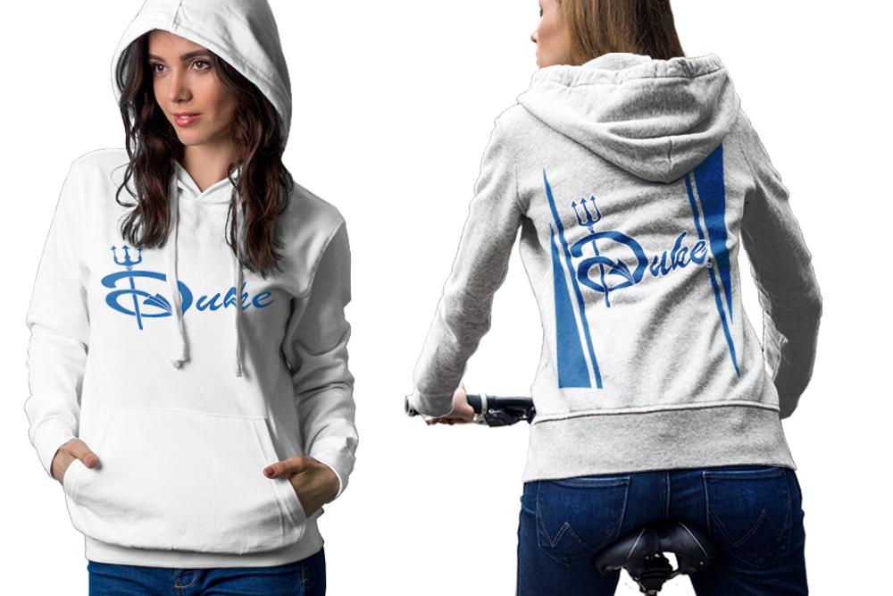 Duke blue devil hoodie classic women white