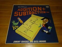 Vintage LP Record WALT DISNEY JIMINY CRICKET & RICA MOORE ADDITION & SUB... - £2.43 GBP