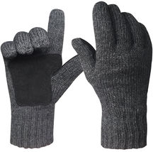 Mens Winter Gloves Warm Wools Knitted Mittens Cold Weather Gloves Access... - $531,69 MXN