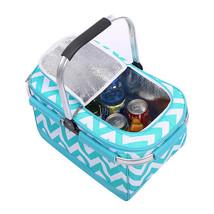 Portable Camping Outdoor Basket Folding Large Picnic Bag Food Storage Ox... - $34.18
