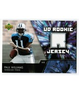 Paul Williams 2007 Upper Deck Rookie Jerseys UDRJ-WI Jersey Relic Titans - $3.00