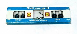 Vintage Shell Tune Up Kit K71 Gas Service Station Display Plugs Condenso... - $13.47