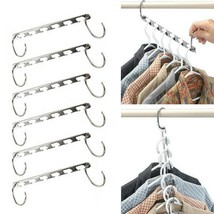 New Clothing Clip Hanger Clothes Organizer Stainless Steel Adjustable Pi... - $22.76