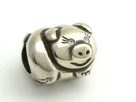 Brighton OINK Pig Bead, Silver Finish, JC1500, New - $14.25