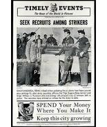 Steel Workers Strikers Chattanooga TN Recruited by Army 1946 Press Photo... - $14.99