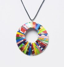 Necklace, round shape made of soda can - Free s... - $25.00