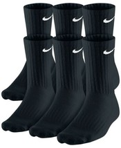Nike Men's Crew Socks 6-Pack (Black, Large) - $34.17